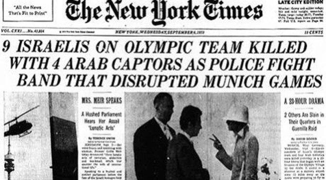 AÑO 1972: MATANZA DE ISRAELÍES EN LOS JUEGOS OLÍMPICOSpor Septiembre Negro