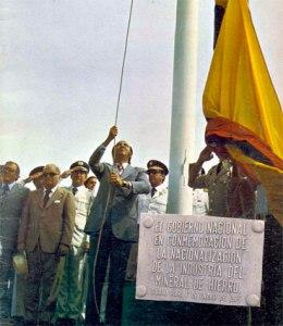 Foto 1975 El Presidente Pérez nacionalizó el hierro